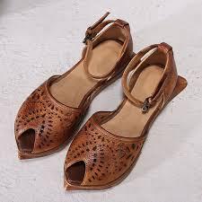 <b>Artdiya</b> Retro <b>Original</b> 2019 Summer New Peep Toe Flat Sole ...