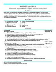 resumer sample nanny resume sample nanny resume sample template     Professional CV Writing Services