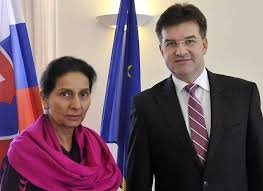 The Minister of State in the Ministry of External Affairs Shrimati Preneet Kaur