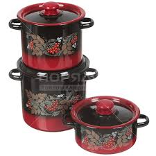 <b>Набор эмалированной посуды Сибирские</b> товары Рябинка 16 ...