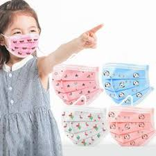 10pcs Children 3 Layers Disposable Mask Printing Face ... - Vova