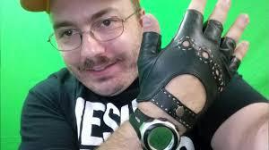 Men's <b>Genuine Leather Fingerless</b> Gloves <b>Half Finger</b> Driving ...