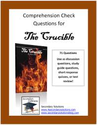 the crucible ela bcomprehension check questions for the crucible