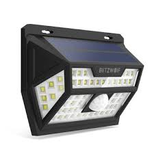 blitzwolf® bw-olt1 <b>solar</b> power 62 <b>led</b> pir motion sensor <b>wall light</b> ...