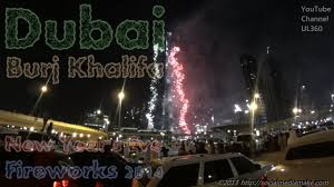 Dubai Burj Khalifa | Midnight Fireworks 2014 New Years Eve ...