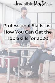 professional skills list journey to are you coming how to succeed using the professional skills list