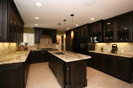 kitchen design cabinets traditional light:  oak kitchen cabinets painted dark brown with elegant granite countertop ideas remodeling cabinets also