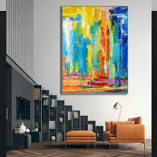 CHENPAT964 <b>abstract modern</b> wall <b>hand painted</b> oil painting art on ...