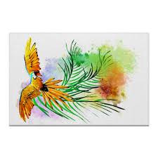 <b>Холст 50</b>×75 Попугай на ветке. #3056690 от Zorgo-<b>Art</b>
