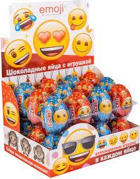 Сладкая Сказка <b>Emoji шоколадное яйцо</b> с игрушкой, 24 шт по 20 ...