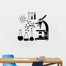 <b>YOYOYU</b> Wall Decal <b>Vinyl</b> Wall Sticker Microscope Scientist ...
