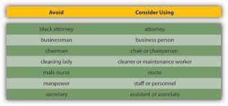 principles of management 1 0 flatworld figure 12 12 avoiding biased language effective communication