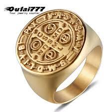 <b>oulai777</b> large rings men <b>stainless</b> steel signet ring black gold rings ...