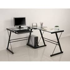 glass desks for bedrooms bathroomoutstanding black staples office furniture lshaped