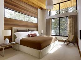 wooden wall panels in brown color inside bedroom bedroom wood wall panel