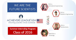 summer internship program achievers league usa usa recently completed its first internship program great success students from the following schools attended this event rock ridge high school