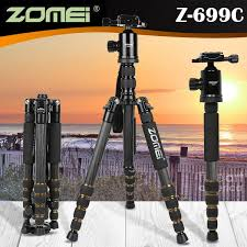 <b>Zomei Z699C</b> Carbon Fiber Tripod 5 Section Monopod Portable Ball ...