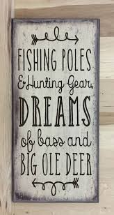 wood sign glass decor wooden kitchen wall: this fishing sign would make any fishermans day to get as a gift features this sign is approximately inches there is a sawtooth hanger on the back for