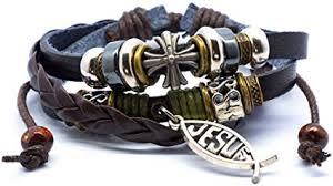 SisFrog Layered Leather Bracelet Vintage Adjustable ... - Amazon.com