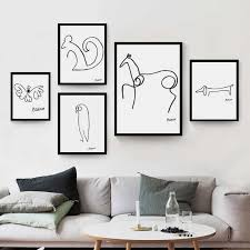 Pablo <b>Picasso Abstract</b> Animal Dog Squirrel Horse <b>Minimalist</b> Wall ...