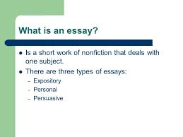 elements of nonfiction types of nonfiction biographies  what is an essay is a short work of nonfiction that deals with one subject