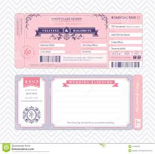 boarding pass wedding invitation template royalty stock boarding pass wedding invitation template