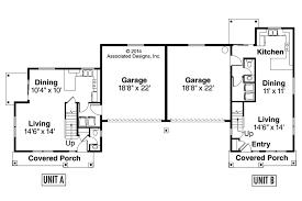 Country House Plans   Warrendale     Associated DesignsDuplex Plan   Warrendale     First Floor Plan