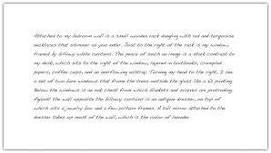 Spatial order in essay