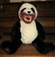 OOAK Creepy Gothic Evil Undead Panda Teddy Bear <b>Horror Plush</b>