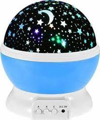 Skyzone Rotating <b>LED Star</b> Moon <b>Night</b> Lamp - Multicolour ...