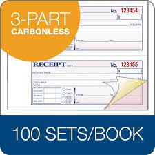 money rent receipt book carbonless part st bk