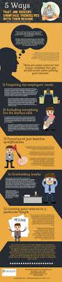 resume writing archives distinctive documents infographic 5 ways that job seekers sabotage themselves their resume