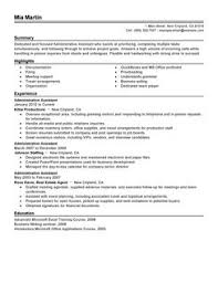 Best Administrative Assistant Resume Example | LiveCareer Administrative Assistant Resume Example