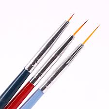 <b>3PCS</b>/Set New <b>Nail</b> Brushl Art Line Painting Pen 3D Tips DIY Acrylic ...