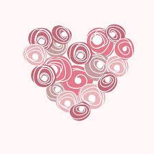 <b>Wedding Card</b> With Vector <b>Heart</b> From <b>Roses</b>. Cartoon Floral <b>Rose</b> ...