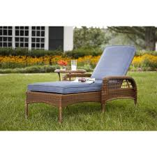 haven brown weather wicker patio lounge