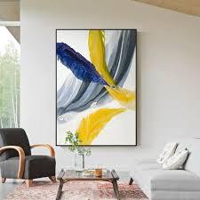 Yellow Blue <b>Feather Art</b> in 2019 | Black canvas <b>art</b>, Colorful <b>abstract</b> ...