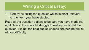 national five english critical essay  bbc bitesize national 5 english critical essay revision 1