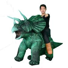 China Sitting Green Triceratops <b>Inflatable Costume Christmas</b> ...