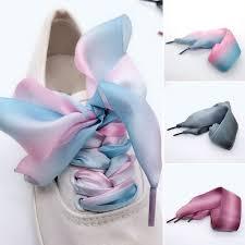 Атласные шелковые <b>шнурки</b> градиентного цвета с лентами ...