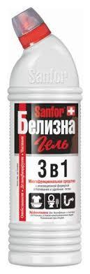 Пятновыводитель Sanfor белизна <b>гель 3в1 с</b> хлором 1000 мл ...