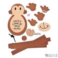 Chinese New Year Paper Chain Monkey Craft Kit from Oriental ...