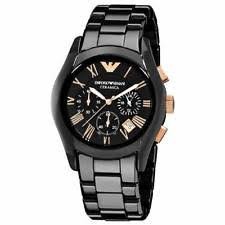 emporio armani ceramica watch new emporio armani ar1410 ceramica black rose men s watch rrp £499 00