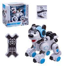 <b>Радиоуправляемая интерактивная собака</b>-робот (свет,танц,USB ...