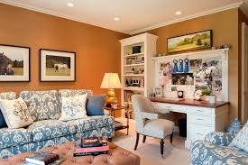 home office inspiration for a contemporary home office remodel in boston with carpet a freestanding desk burnt red home office