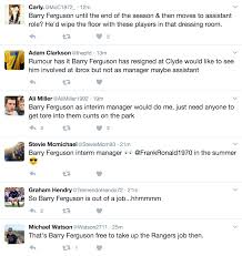 barry ferguson to rangers links grow strong reports of clyde exit screen shot 2017 02 25 at 18 27 30