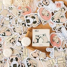 New <b>45pcs</b>/<b>pack Cute</b> Raccoon Decorative Stickers DIY Sealing ...