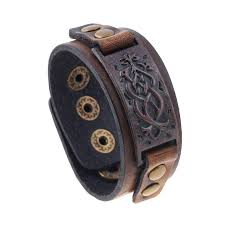 Male Cow Leather <b>Bracelets</b> Biker <b>Jewelry</b> Men's <b>Bracelet</b> Retro ...