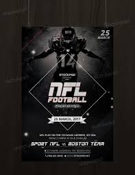psd flyers brochure mockups more templates nfl football sport psd flyer template