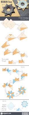 robin star by maria sinayskaya   diagram   go origamirobin star diagram v